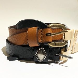 FRYE AND CO. 2 Leather Belt Set